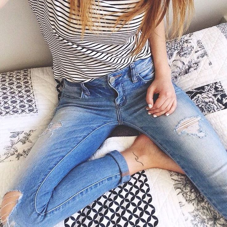 Ripped denim goals. / Shop the look http//www.garageclothing.com/ca/cat/jeans?utm_source ...