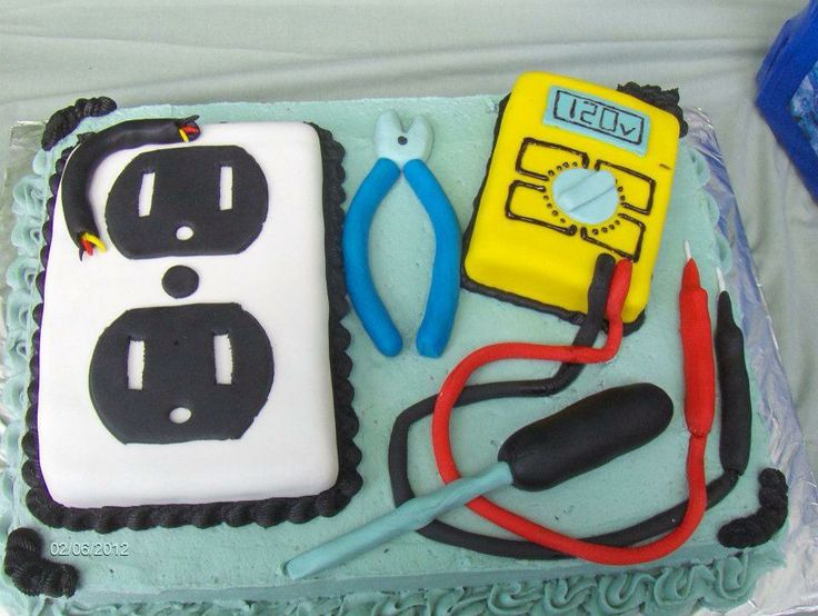 Tools To Make Electrician Cake