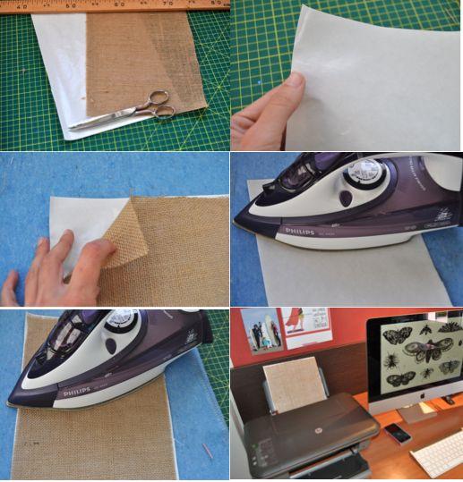 Rojo pistacho imprimir en tela de saco keep calm - Tela de saco ...
