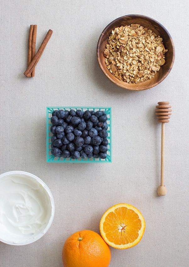 Ingredients for Blueberry Parfait by La Domestique