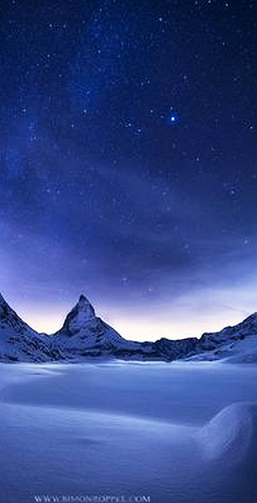 BLUE HOUR ...... Matterhorn, Switzerland #photo by simon roppel #schweiz blau mountain snow winter ice landscape nature sky europe