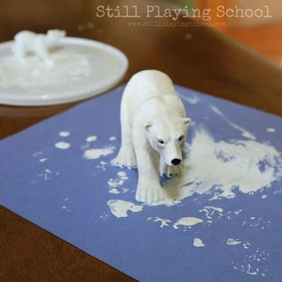 Polar animals preschool unit including science investigations, crafts, and activities