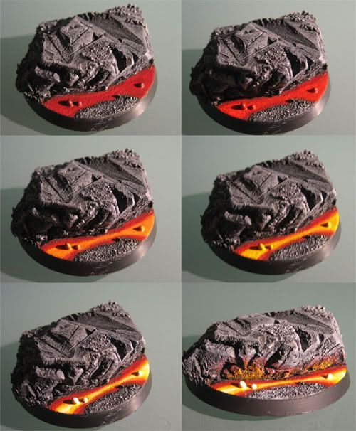 Tagsta's Lava Base - Step By Step | From Warhammer 40k Forum Tau Online | #Wargaming #Miniatures #Diorama