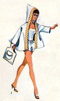 maillot de bain, camouflage et sac fourre-tout de barbie