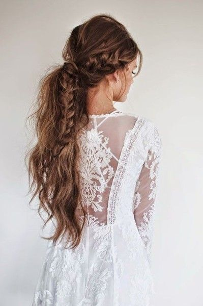 101 Pinterest Braids That Will Save Your Bad Hair Day | Bohemian Braided Pony