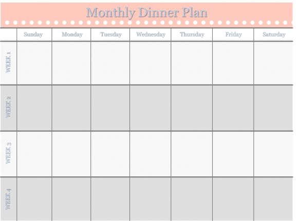 Home Management Binder   Free Templates Monthly Dinner Schedule When It  Comes To Planning And Organizing