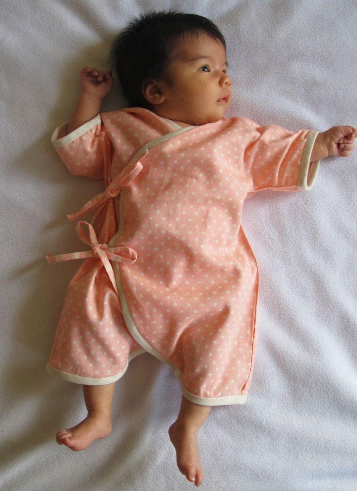 Baby Kimono / Onesie Japanese double gauze by ...