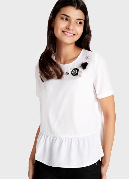 Купить Блузка с баской (LS1S1D) в интернет-магазине одежды O'STIN