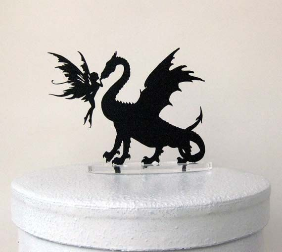Hey, I found this really awesome Etsy listing at https://www.etsy.com/listing/175394424/wedding-cake-topper-dragon-fairy