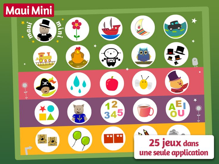 Maui Mini App - 25 Jeux Éducatifsen une seule app pour Tout-petits et Jeunes Enfants de 2 - 3 - 4 - 5 ans.