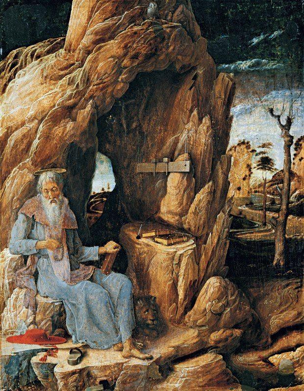 Андреа Мантенья. Святой Иероним и лев.