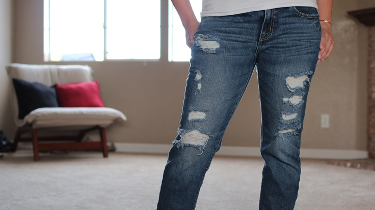 How to Cut Holes in Jeans | eHow.com