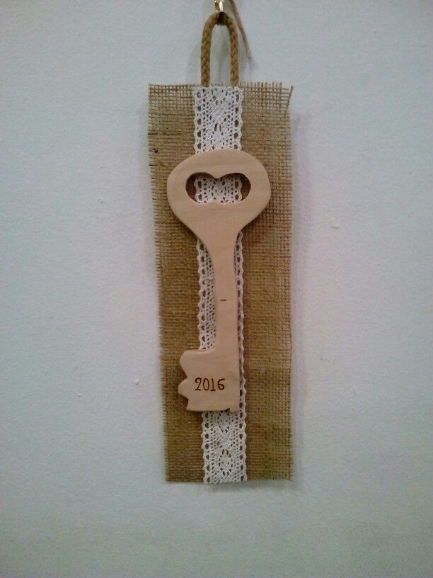 Vintage ξύλινο κλειδι γουρι