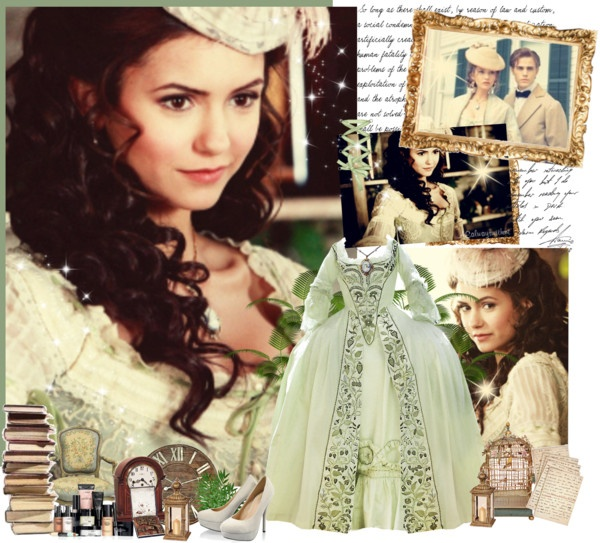 Katherine Pierce 1864 White Dress