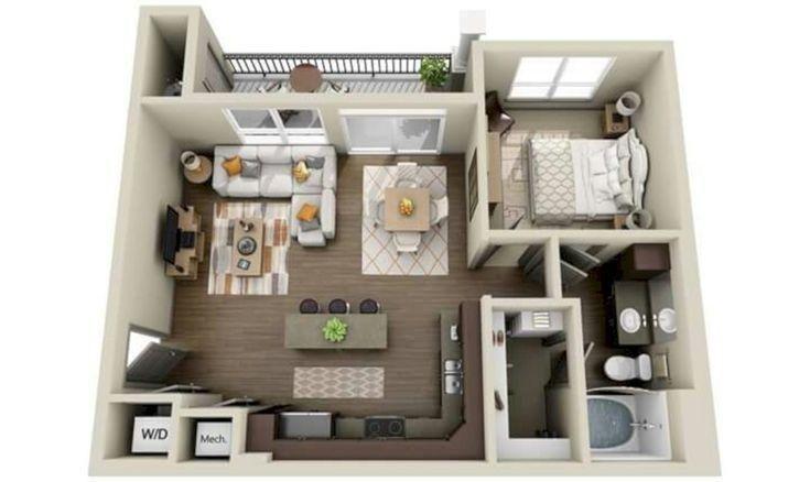 A 3d Floor Plan Or 3d Floorplan Is A Virtual Model Of A Building Floor Plan Depicted Fr Apartment Floor Plans Studio Apartment Floor Plans Floor Plan Design
