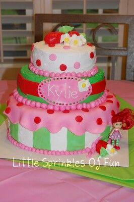 Strawberry short cake birthday cake