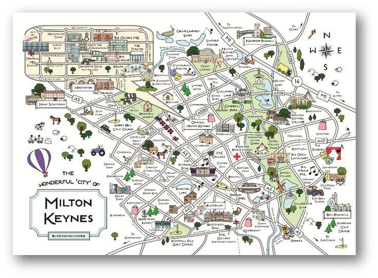 Cute Maps | MK Shop | Milton Keynes Souvenirs| MK Print
