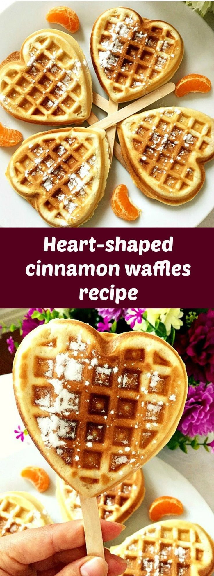 Cinnamon waffles recipe, the perfect homemade treat when you want to indulge yourself without spending money on a ridiculously posh and equally expensive breakfast/brunch in a 5 star restaurant. All you need is a waffle maker, and you won't really break the bank, the price range being more than affordable. #cinnamonwaffles, #waffles, #easybreakfast