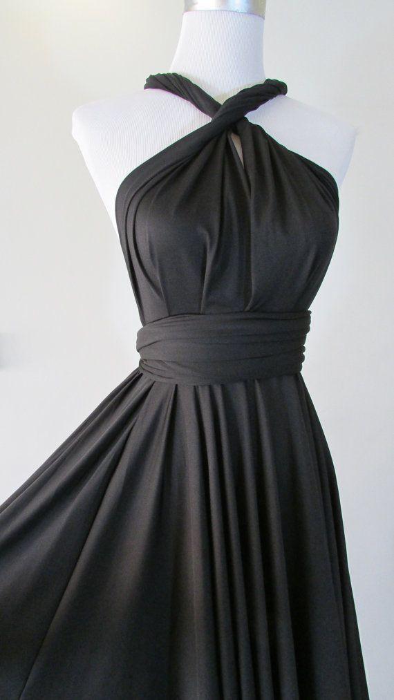 Free Bandeau Little Black Dress Convertible Dress In Dark