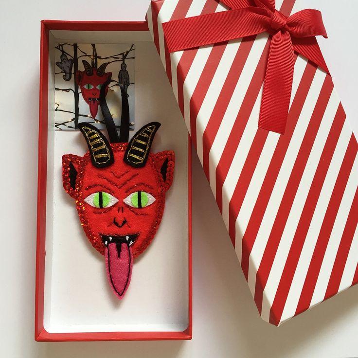 Krampus in a box | Krampus, Christmas tree decorations ...