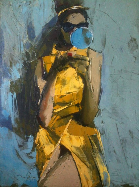 "Saatchi Online Artist: Fanny Nushka Moreaux; Oil, 2012, Painting ""1961"""