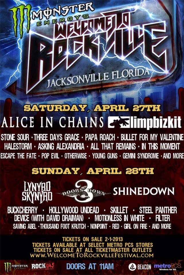BRING IT BACK!!!    LB is playing the Welcome to Rockville Festival in Jacksonville, FL on 4/27/13 tickets on sale on Friday 2/1/13 visit    http://www.welcometorockvillefestival.com/ for tickets!