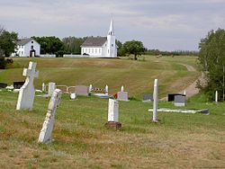 Church, rectory and cemetery of Saint Antoine de Padoue in Batoche