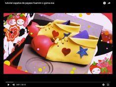tutorial zapatos de payaso foammi o goma eva - YouTube