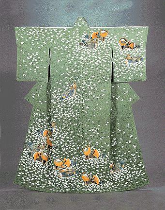 羽田登喜男作品 石川県立美術館蔵  Kimono by National Treasure Haneda Tokio