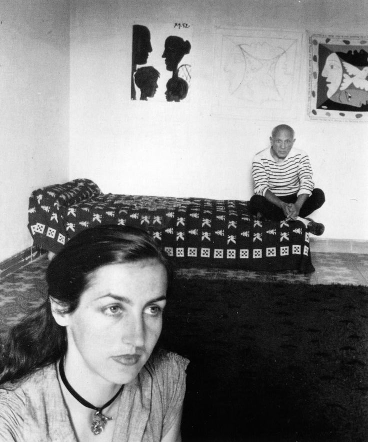 Photograph by Robert Doisneau Picasso and Francoise Gilot, 1952.