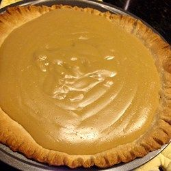 Grandma's Butterscotch Pie - Allrecipes.com This is yummy, I made it with a pretzel crust and fresh whipped cream with vanilla bean topping.  Next time use dark brown sugar for a richer color and flavor.