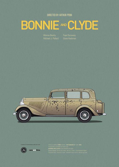 Les voitures des films cultes par l'artiste Jesús Prudencio