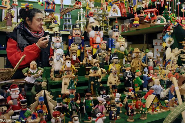 Nutcrackers for sale at the Nuremberg Christkindlesmarkt  #EuropeanChristmasMarkets #Nuremberg #Germany #Travel