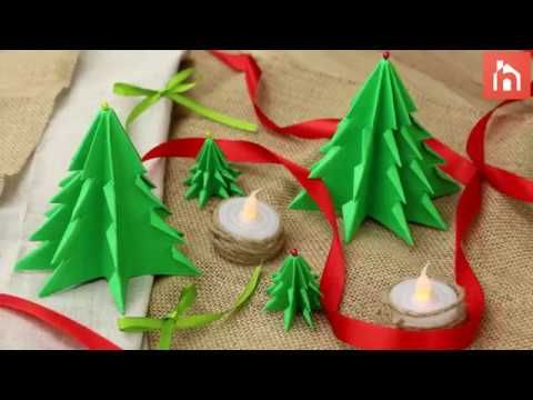 Fold A Forest-Full Of Paper Christmas Trees - Home Decorating Trends - Homedit
