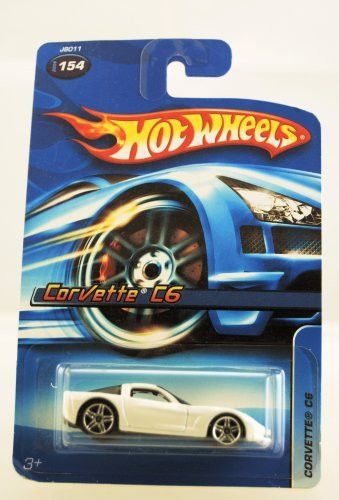 Hot Wheels - 2006 - Corvette C6 - #154 - White & Red - Limited Edition - Collectible