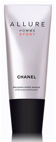 Chanel ALLURE HOMME SPORT After-Shave Moisturizer. A light, non-oily emulsion. When applied to dry skin, the fast-absorbing texture soothes burning sensations caused by shaving. Your skin is moisturized, supple and delicately perfumed.