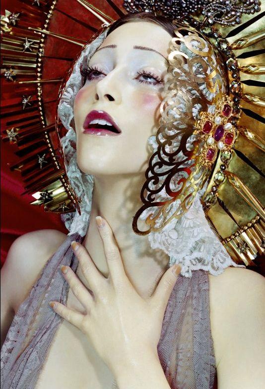 Synesthesia Garden - a weird art + style blog   » Blog Archive » Virgin Mary-Inspired Imagery from Miles Aldridge