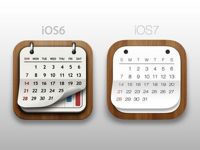 iOS6 vs iOS7 Calender | App Icons