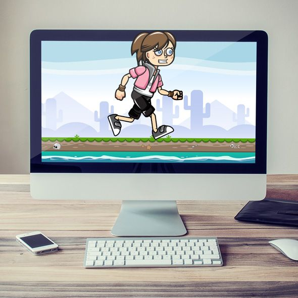 Teen Girl, a female Game Character Sprites