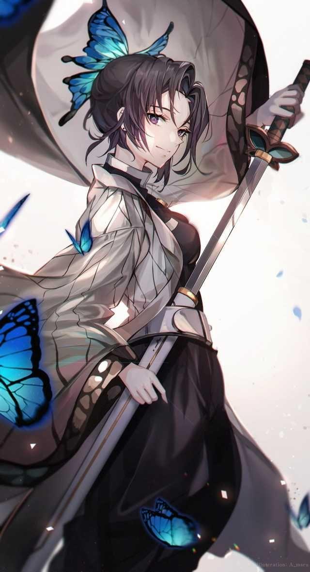 Shinobu Kimetsu No Yaiba By Unity Ekvmsp02 Anime Characters Anime Demon Anime Images