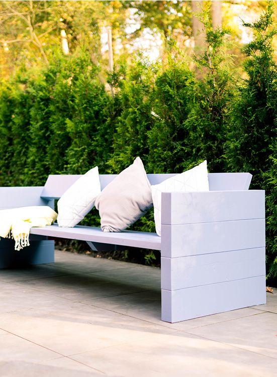 Gartenbank Jule Selber Bauen Gartenmöbel Draußen Outdoor Sofa