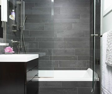 Small Bathroom Showers...if I'm gonna have a tub then I want something like this....otherwise I just want a shower!!!