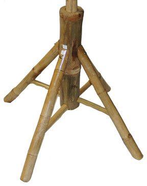 Bamboo Umbrella Stand tropical-outdoor-umbrellas