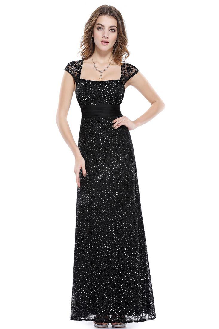 Black Lace Sweetheart Neckline Maxi Dress - Maxi Bridesmaid Dresses.