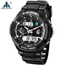 2016 Nova alike s choque Marca de Luxo Homens Esportes Militares Relógios Digitais LEVOU G relógios de Pulso de Quartzo pulseira de borracha relogio masculino(China (Mainland))