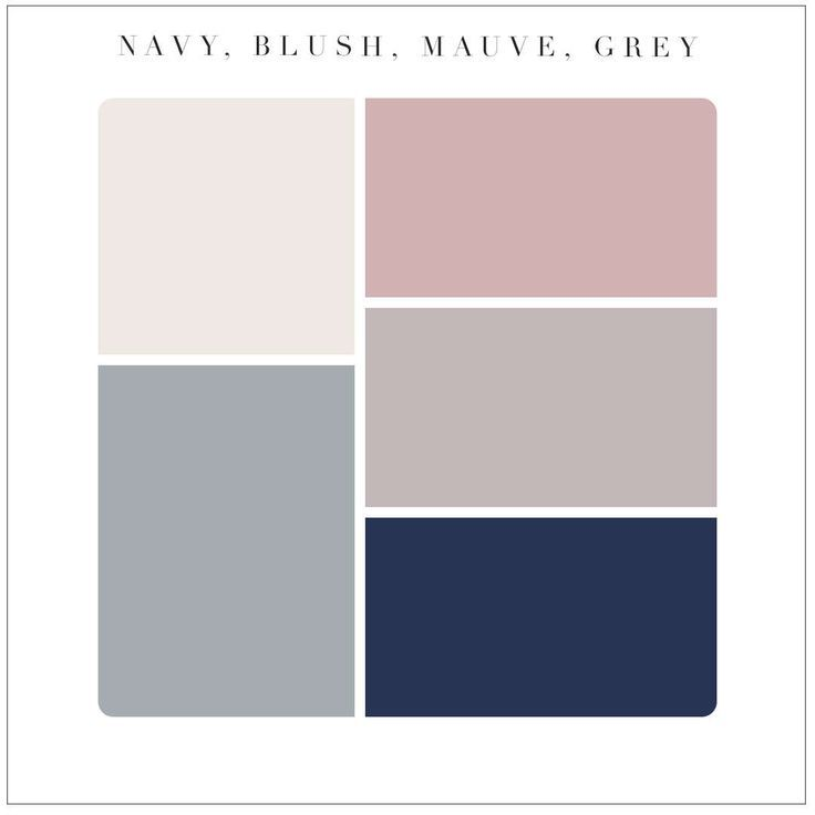 Mauve blush navy wedding pallet : any metallic as …