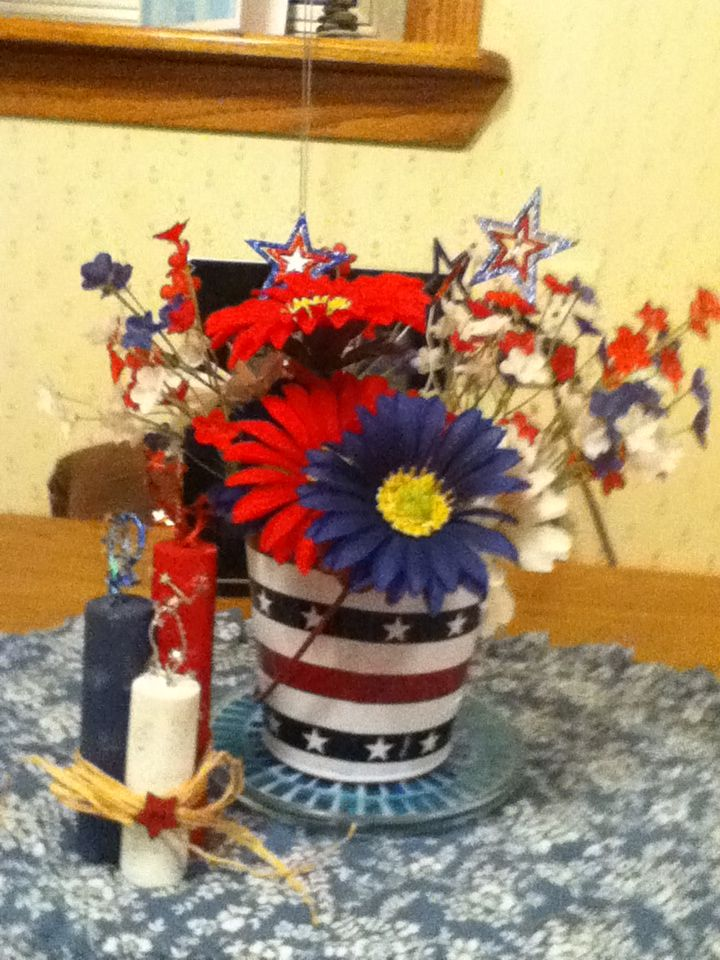 Cute 4th of July flowers