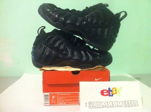 Nike Air All Black Foamposite Pros Rare Size 8.5!!!