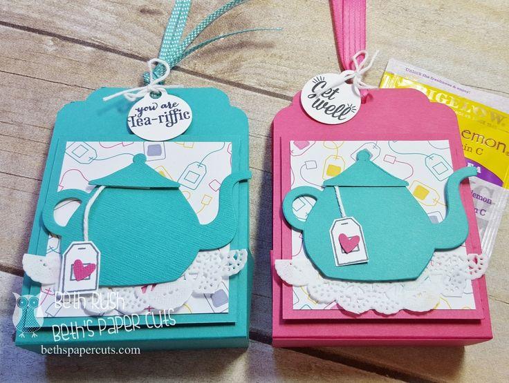 Tea Bag Holder Paper craft:  Holds 5 teabags.