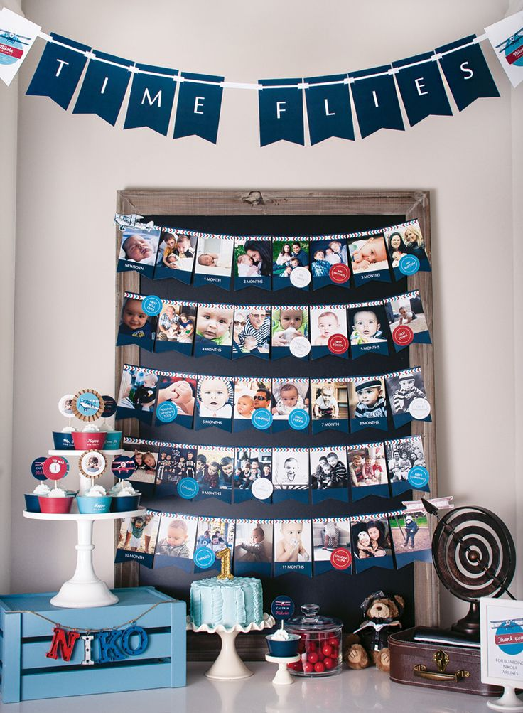 """Time Flies"" Airplane 1st Birthday Party 